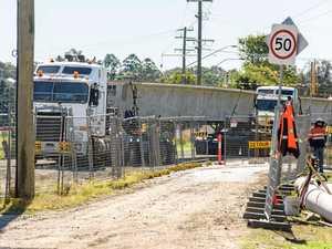 Massive girders arrive for new bridge construction
