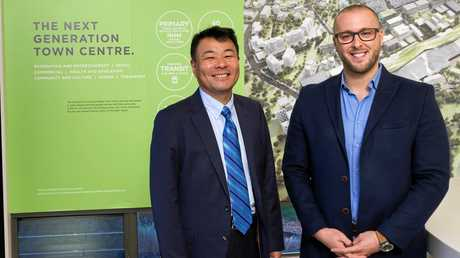 WELCOME: The Quay Family Healthcare practice manager Nazmi Msamih with Sekisui House Australia CEO and managing director Toru Abe.