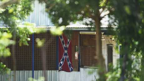 The Rebels bikie gang clubhouse at Darwin River.