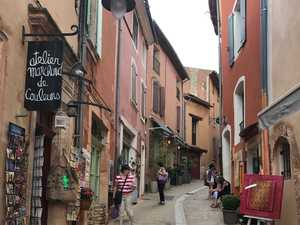 Roussillon shining brightly in Vaucluse