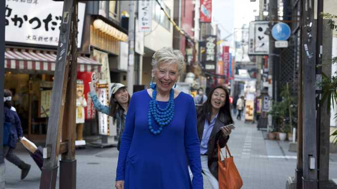 Maggie Beer pictured in a scene from her TV special Maggie in Japan.