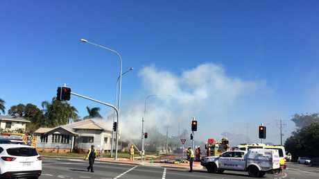 A house is on fire on the corner of Nebo & Shakespeare Sts, Mackay