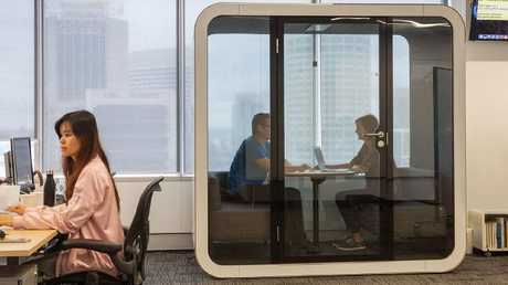 Small soundproof meeting rooms provide the perfect escape