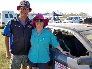 RALLY CHAMPS: Outright winner Tim Hall with close runner-up and wife Kym Hall.