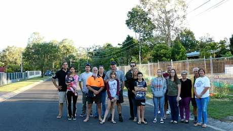 AT WAR: Residents on Laloki St, Camira are desperately fighting to stop a subdivision, and construction of a duplex, going ahead in their street.