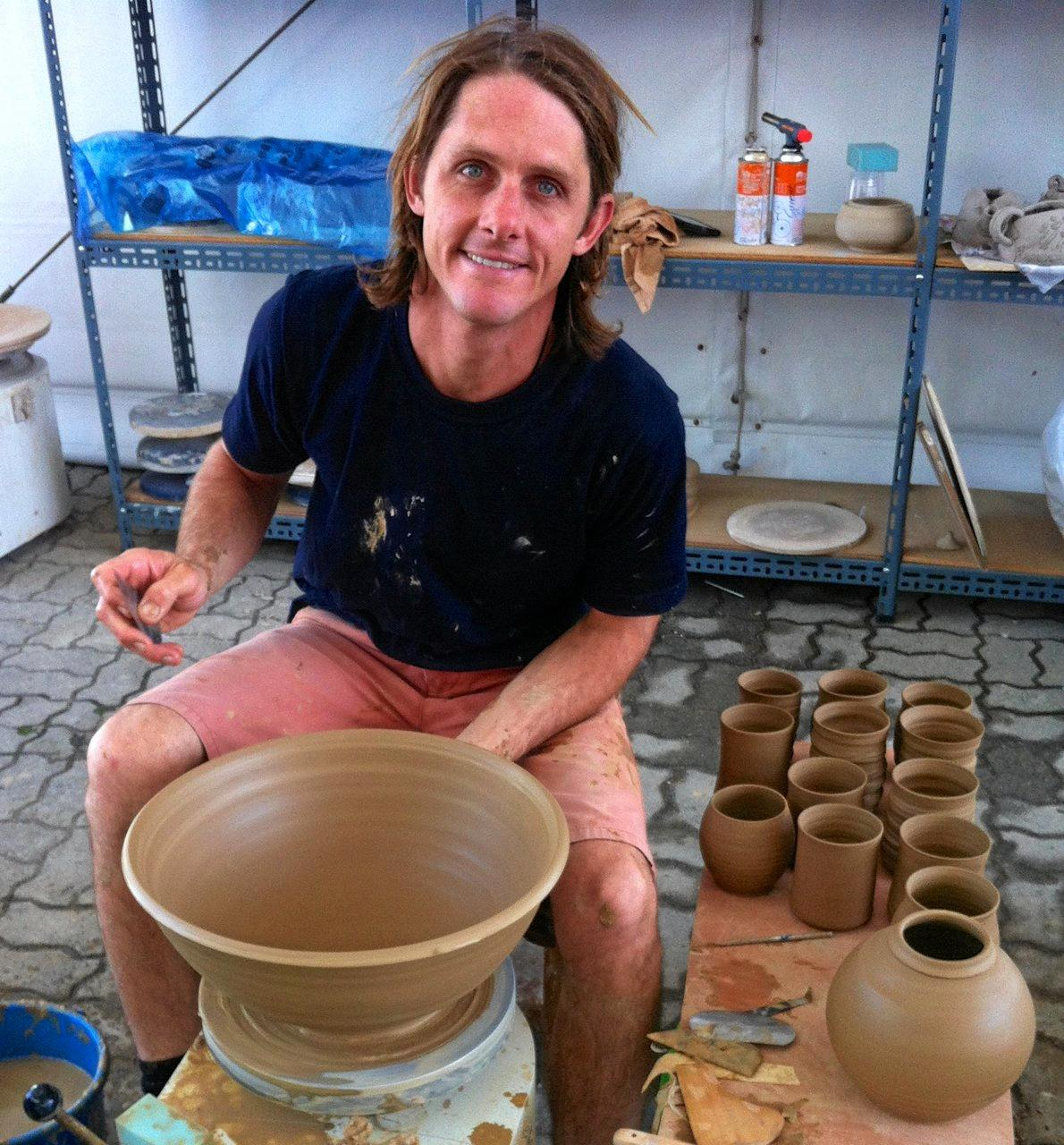 CERAMIC ARTIST: Renton Bishopric will be one of the guest pottery tutors when Childers hosts the 40th anniversary Wide Bay Burnett Potters Association Convention in October.  Photo Contributed