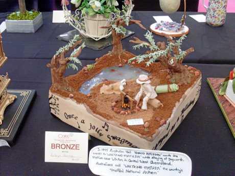 Robyn Bargh's camp fire creation won her a bronze award.