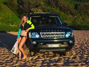 Surfer Sally Fitzgibbons loves to Disco in her Land Rover