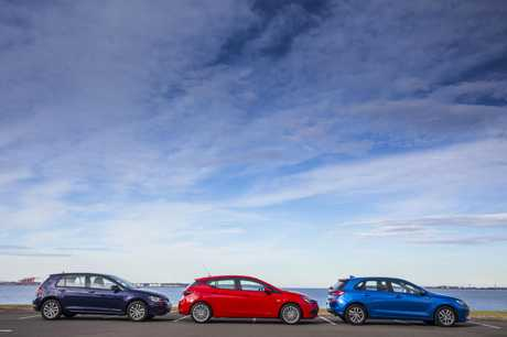 Our three-way vehicle comparison between 2017 Volkswagen Golf 110 TSI, Holden Astra R plus and Hyundai i30 Active.