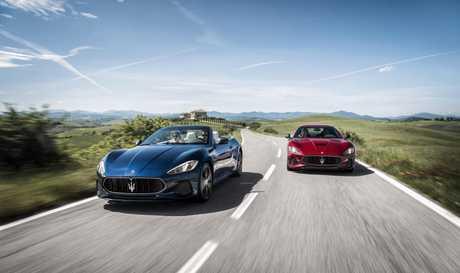 The 2017 Maserati GranCabrio and GranTurismo.