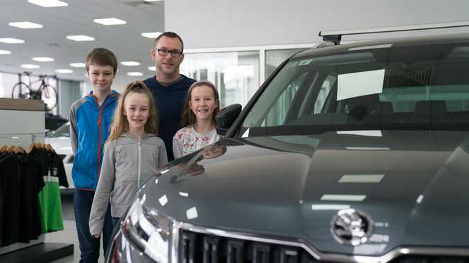 Skoda Kodiaq with owner Brendan Pawsey and his family.