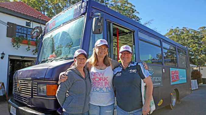 DRIVING CHANGE: Mandy Adams, Belinda Adams and Liz Brook  for brain injury awareness.