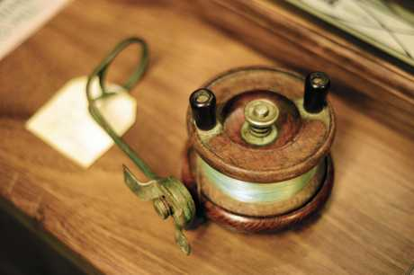 One of the first Alvey reels, built in 1920 by Bruce and Glenn's great-grandfather Charles.