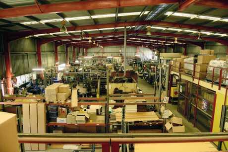 The Alvey Reels factory at Carole Park.
