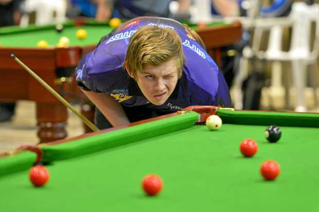 Kain Stone, 17. CQ 8-Ball competition on the weekend at Yaralla Sports Club.