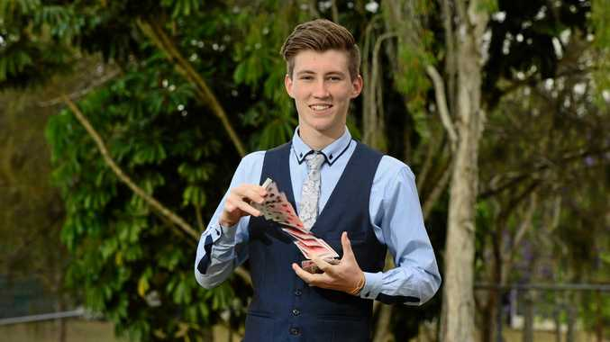 MAGIC BOY: Ipswich's own teenage magician will perform at the Fourthchild on Saturday night.
