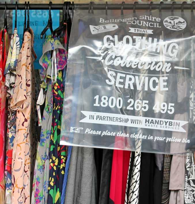 WASTE NOT: Bellingen's clothing recycling trial is to become permanent.
