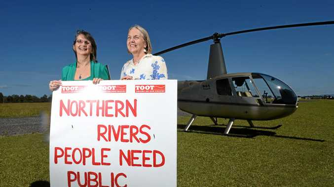 HANDS OFF: NRRAG president Beth Shelley and Greens Senator Lee Rhiannon are in support of keeping the railway line.