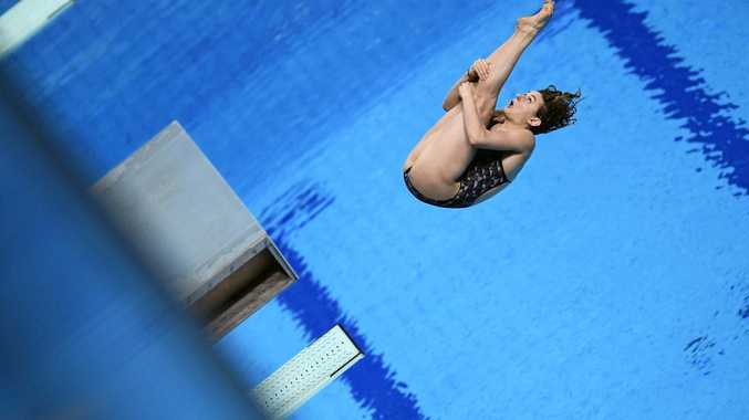MEDAL HOPEFUL: Australia's Maddison Keeney competes in the women's diving 3m springboard semi-finals of the Swimming World Championships in Duna Arena in Budapest, Hungary. Keeney qualified for the finals and is hoping to secure a medal in the event.