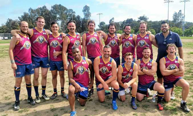 Jacob Mills (fifth from back-left) with his San Diego Lions team-mates
