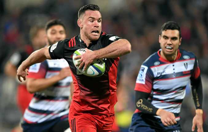 KEY RETURN: Ryan Crotty's return will help strengthen the Crusaders defence and attack in the Super Rugby quarter-final clash with the Highlanders.