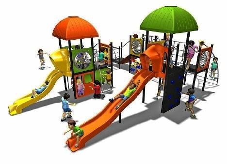 An artists' impression of the playground equipment at the Mount Larcom Community Recreation Hub.