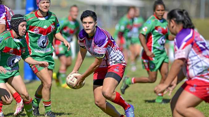 Emu Park Emus' player Nadine Hattingh in the semi-final against the Tannum Seagals at Marley Brown Oval.