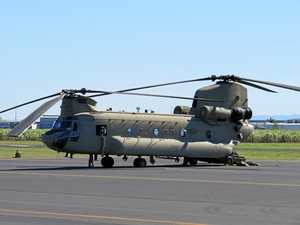 Chinooks make flying visit for Talisman Sabre