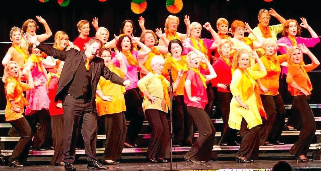 HOT VOCALS: The Hot Ginger Chorus.