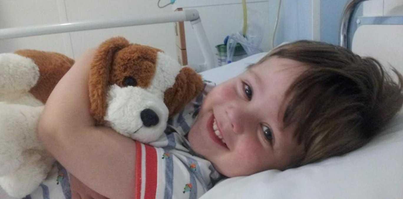 Daniel had to endure a nine-hour procedure to remove the tumour