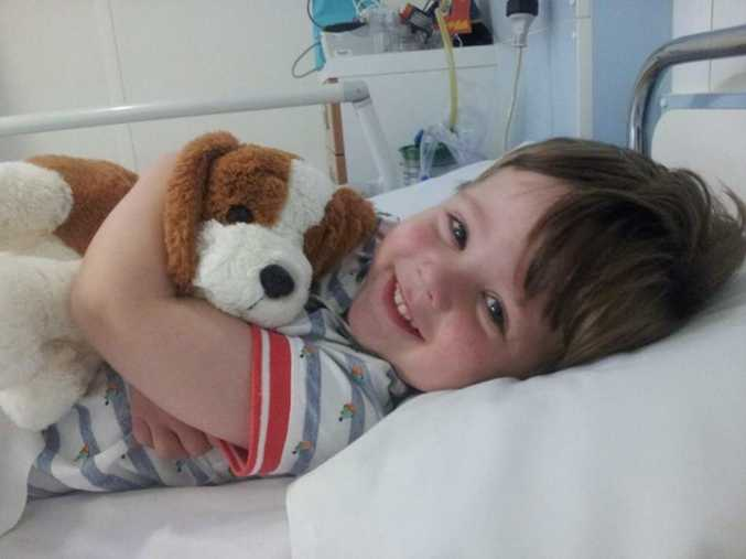 Daniel had to endure a nine-hour procedure to remove the tumour