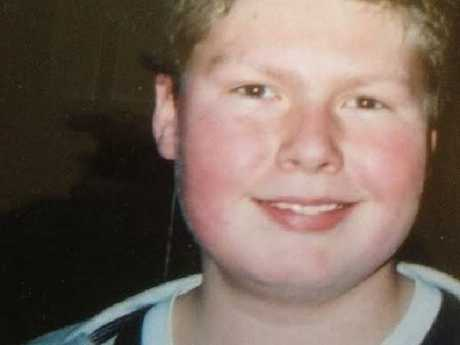 Stevie Brazier, pictured at 14, was upset after seeing a doctor's notes describing him as 'clinically obese' while hospitalised for a broken leg.