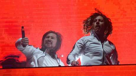Peking Duk performs at main stage Splendour In the Grass 2017 with guests.
