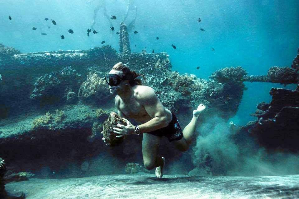 Coast freediver Adam Sellars is taking on the World Championships in Honduras next month.