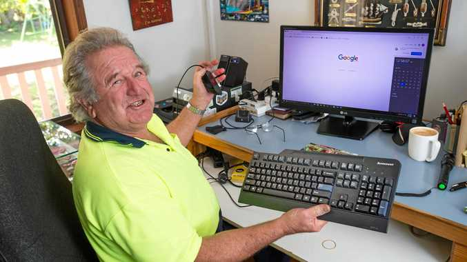 BE ALERT: Lester Platts is spreading the word to be alert to computer scams.