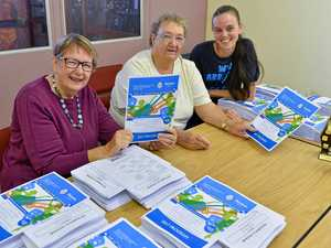 NEARLY HERE: Gladstone Eisteddfod's Beth Jones, Pauline Newman and Heidi Johnson prepare this year's event program.