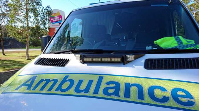 CAR ACCIDENT: Paramedics transported a man to Mackay Base Hospital this morning with minor injuries after he was involved in a traffic crash.