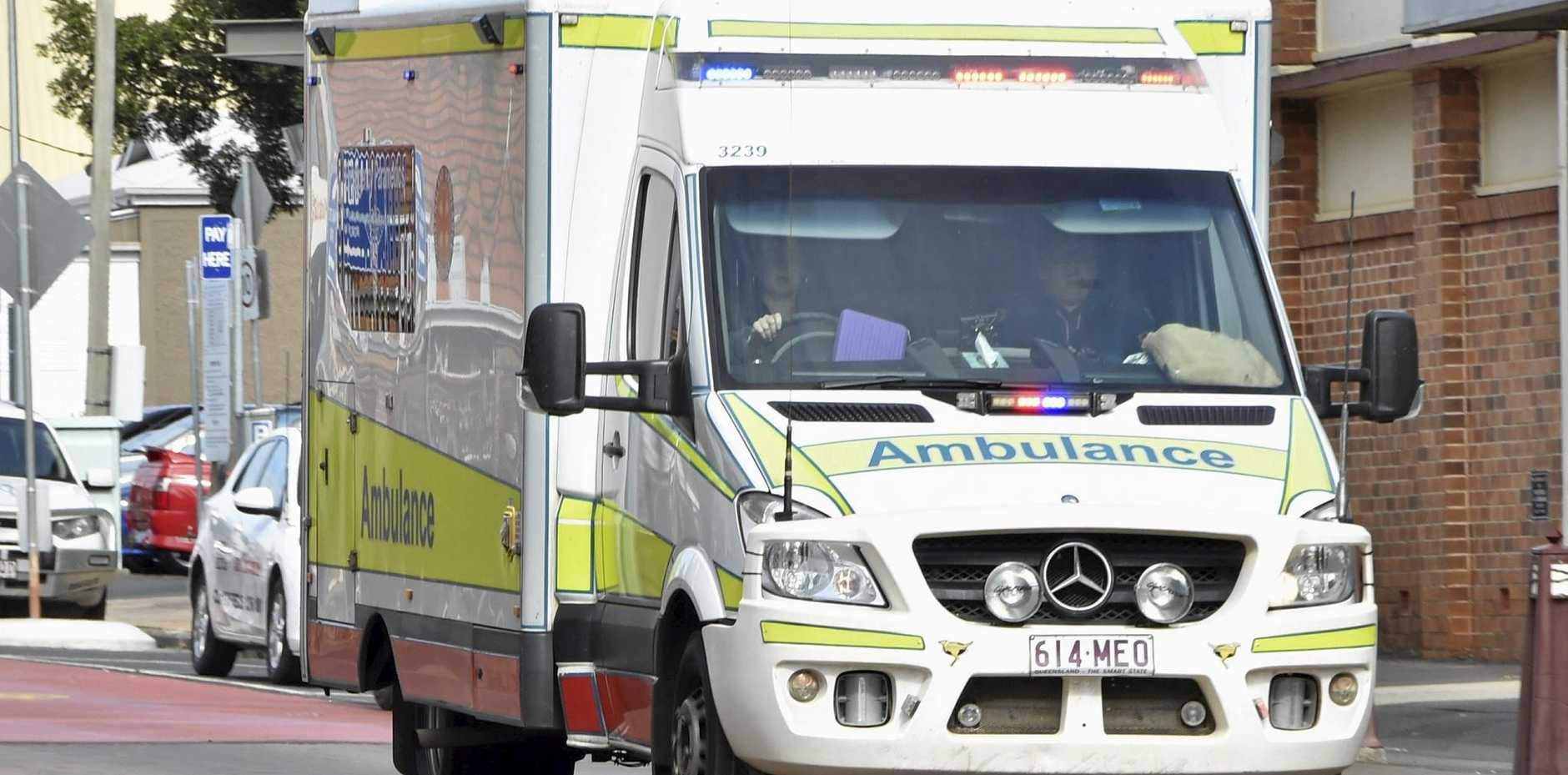 Paramedics rushed to the scene of a single-vehicle crash today.