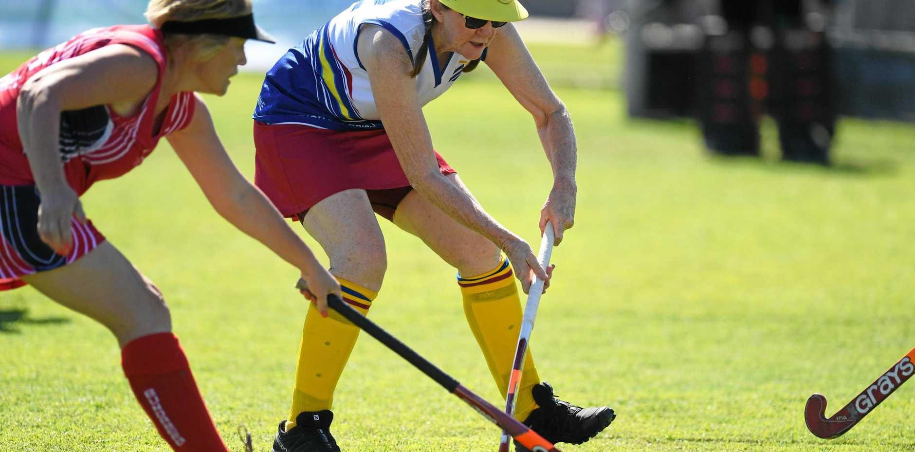 Women's Masters Hockey State Championships in Gympie Bundaberg2 vs Brisbane6.
