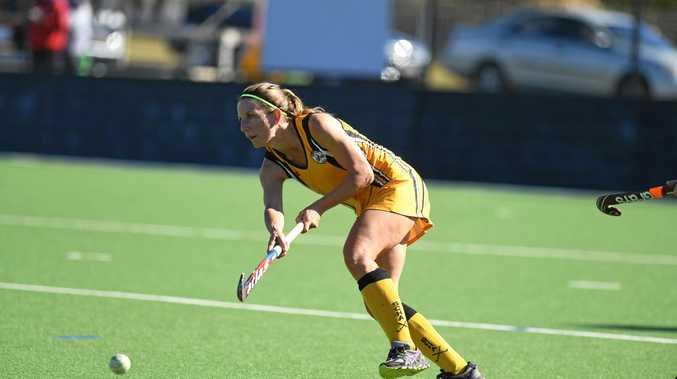 Women's Masters Hockey State Championships in Gympie Gold Coast1 vs Sunshine Coast1.