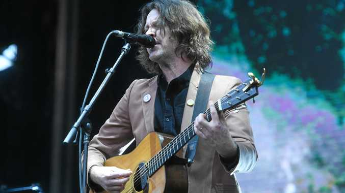 Bernard Fanning plays the main stage at Splendour in the Grass 2017 on day 2.
