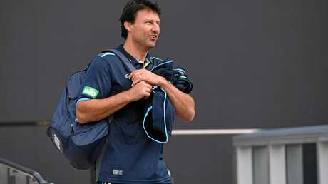 NSW State of Origin coach Laurie Daley arrives for a team media call in Sydney.
