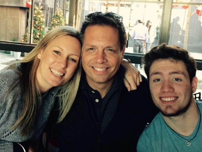 Justine Ruszczyk Damond with fiance Don Damond and his son, Zach Damond.
