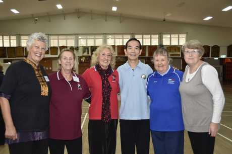 Dr Paul Lam, Tai Chi for Health workshop. Dr Paul Lam, with participants of Tai Chi for Health workshop, from left; Janet Bishop, Louise Kennedy, Carole Dupuy, Dr Lam, Rosalie Rudduck, Sandy Sharp. July 2017