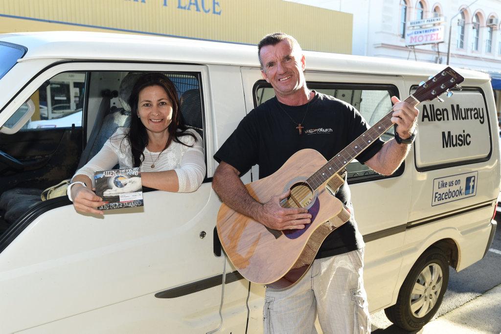 Musician Allen Murray and partner Alicia Gassman.