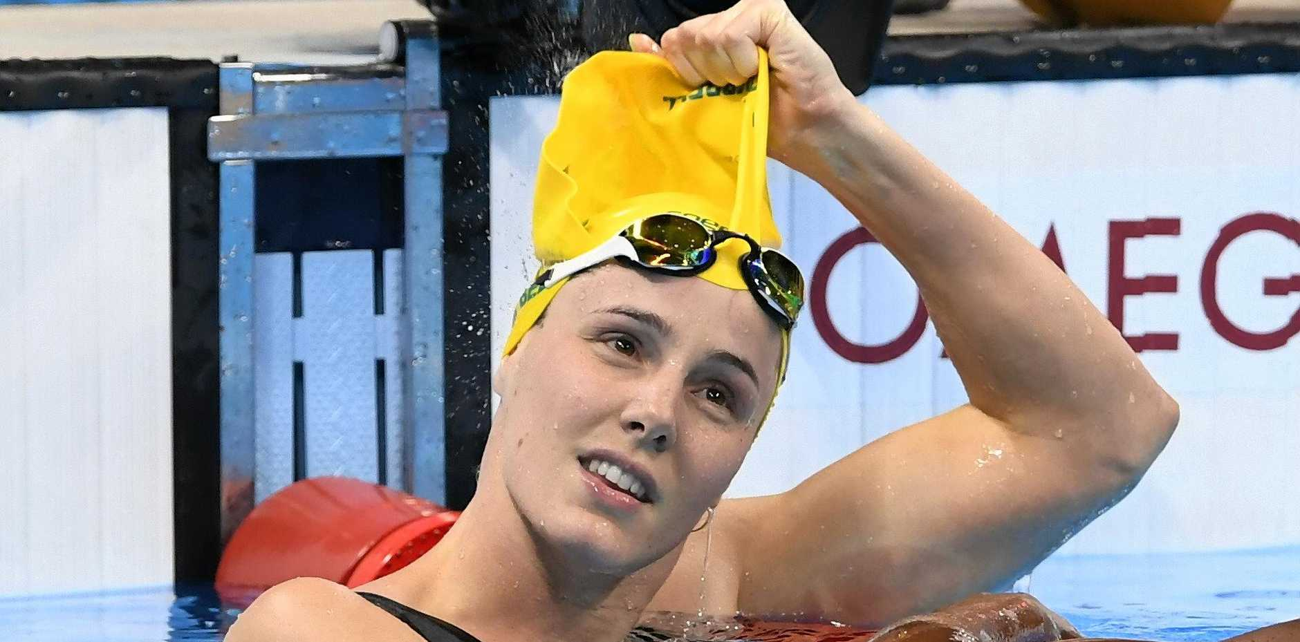 Bronte Campbell is battling ongoing shoulder injuries at the World Swimming Championships in Budapest.