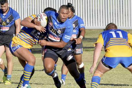 STRONG RAMON: Goodna captain Ramon Filipine, pictured in action against Norths last year, scored three tries and was a standout in the 61-6 win over Swifts on Saturday night.