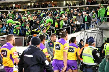 Canberra coach Ricky Stuart blasts refs after NRL loss to Storm