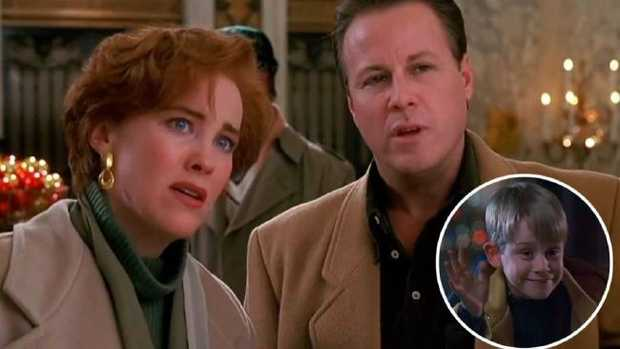John Heard opposite Catherine O'Hara (and Macaulay Culkin, inset) in Home Alone. Picture: YouTubeSource:Supplied