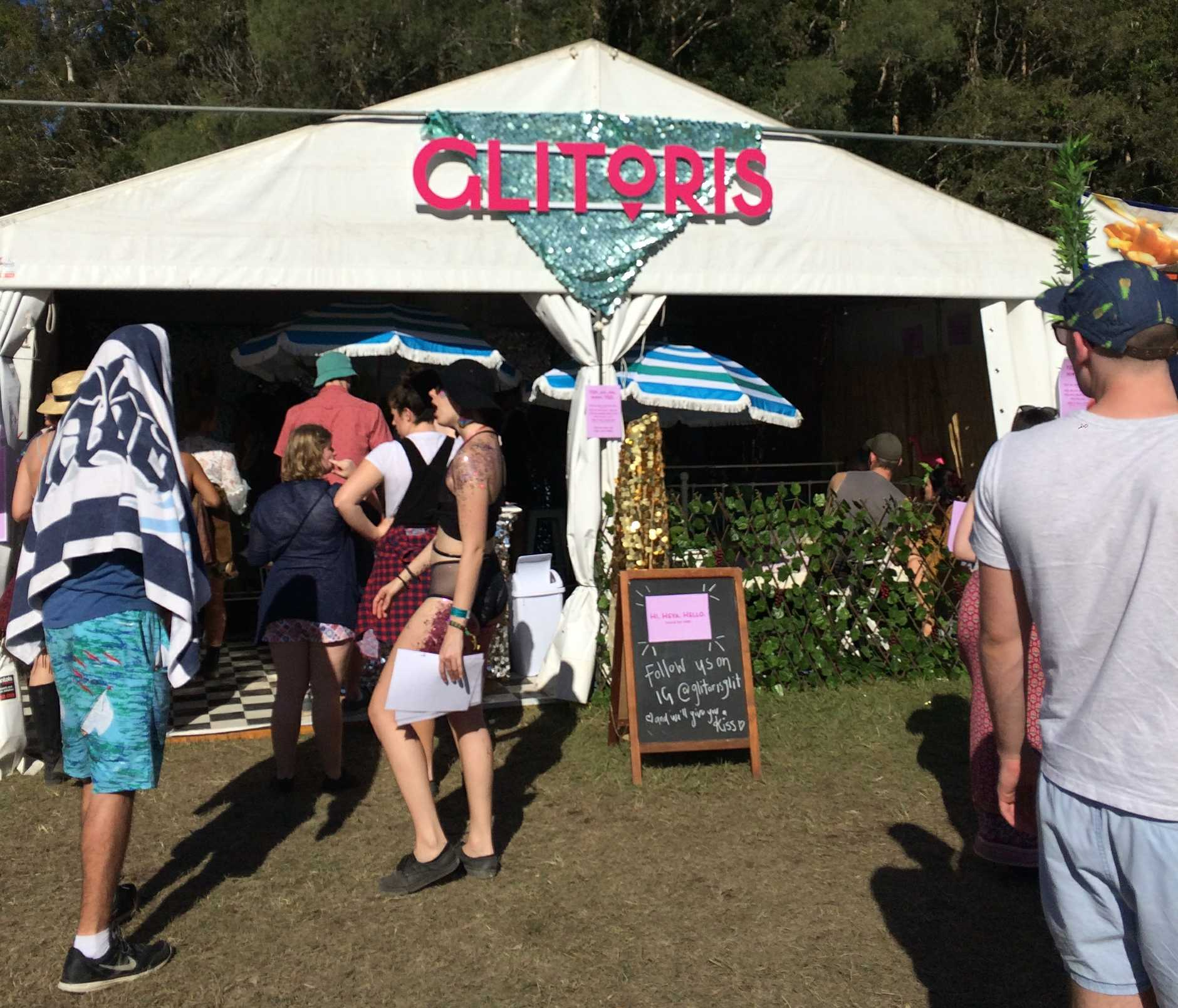 Glitoris tent at Splendour in the Grass, 2017.